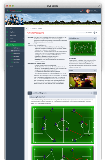 ClubSportal Player Development Software
